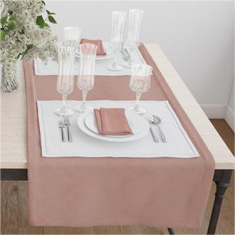 Раннер(дорожка) для стола цвет розовый