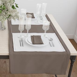 Раннер(дорожка) для стола цвет коричневый