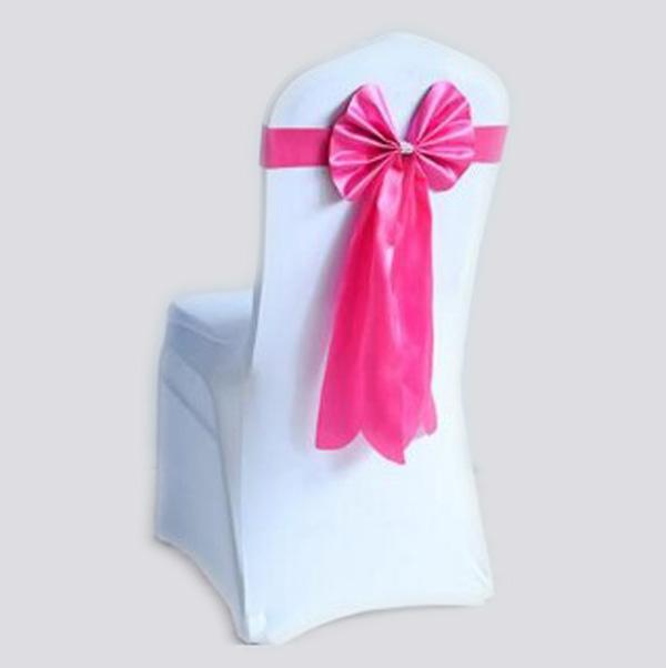 Бант на стул из креп-сатина розовый