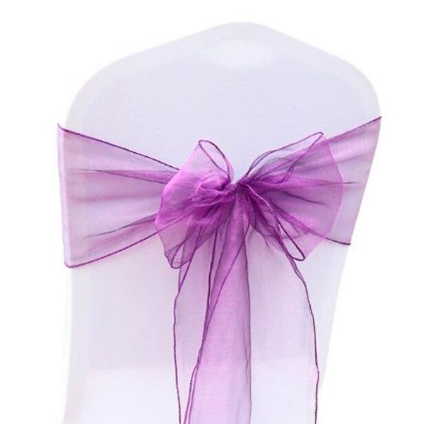 Бант на стул фиолетовый