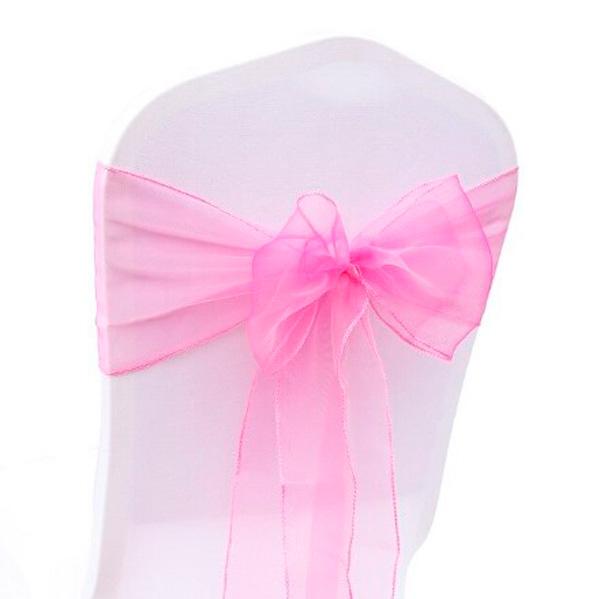 Бант на стул розовый