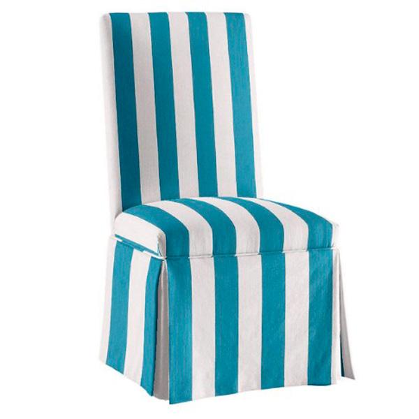 Чехол на стул в полоску