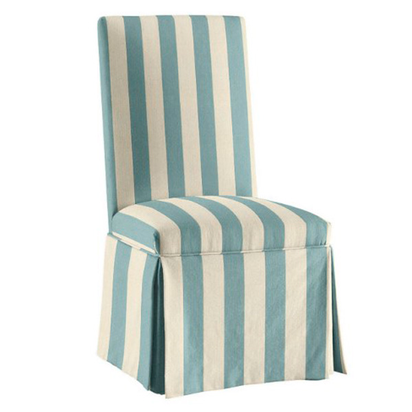 Чехол на стул в полоску 2