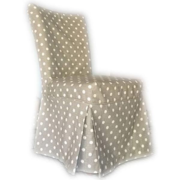 Чехол на стул в горох