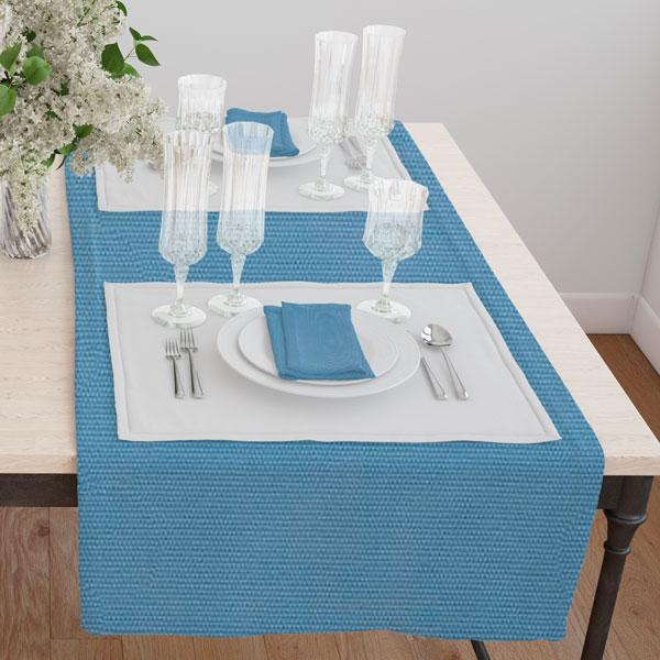 Дорожка(раннер) 120*45 цвет 49 голубой