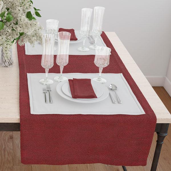 Дорожка на стол 120*45 цвет 111 бордовый