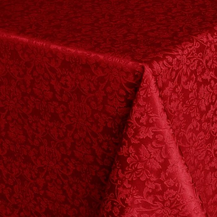 Скатерть Журавинка  цвет бордовый 220*145 арт 1472