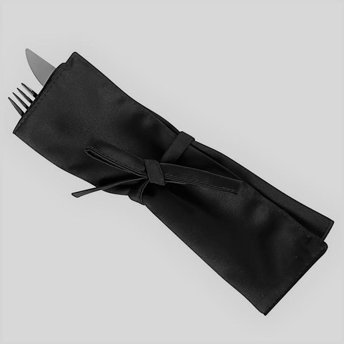 Куверт габардин на 3 прибора модель зефир черный