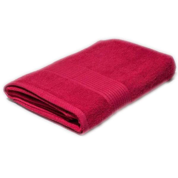 Полотенце махровое красное 400гр/кв.м с бордюром