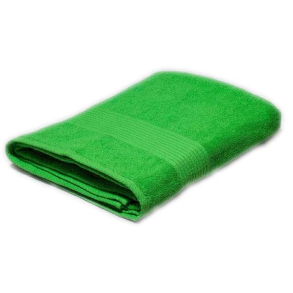 Полотенце махровое салатовое 400гр/кв.м с бордюром
