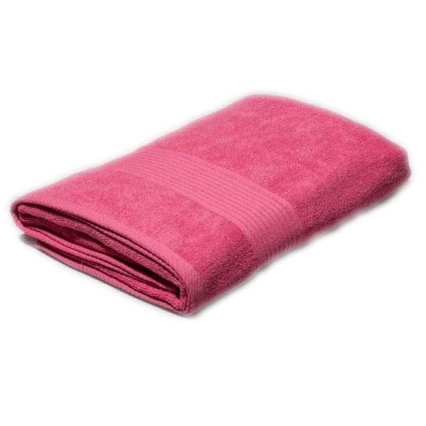 Полотенце махровое розовое 400гр/кв.м с бордюром
