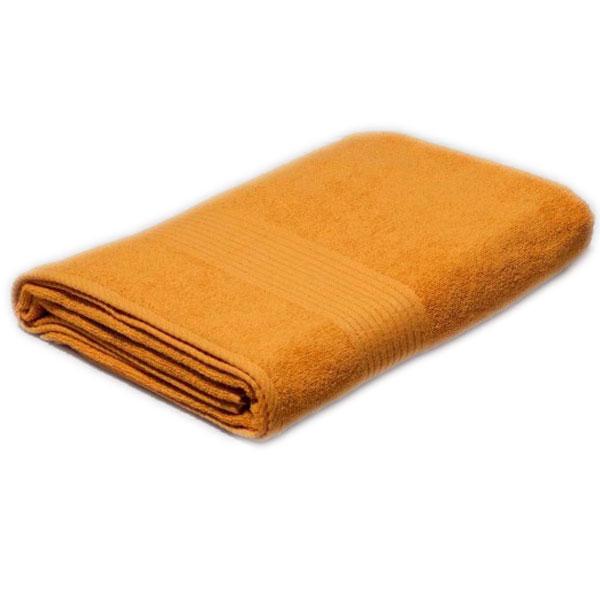 Полотенце махровое желтое 400гр/кв.м с бордюром