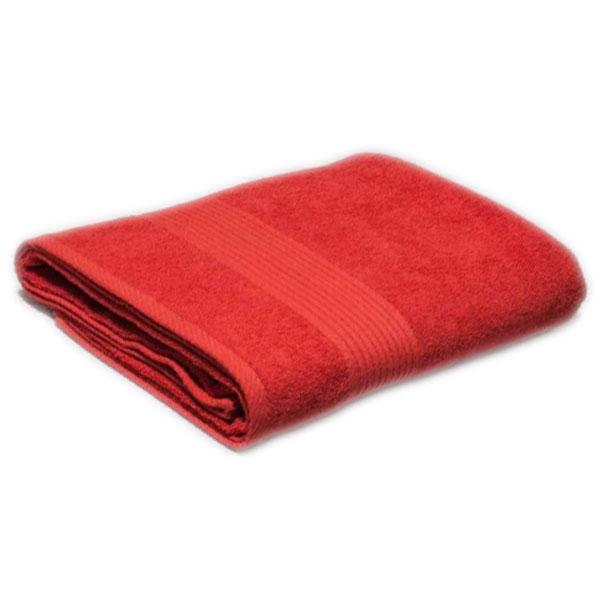 Полотенце махровое оранжевое 400гр/кв.м с бордюром