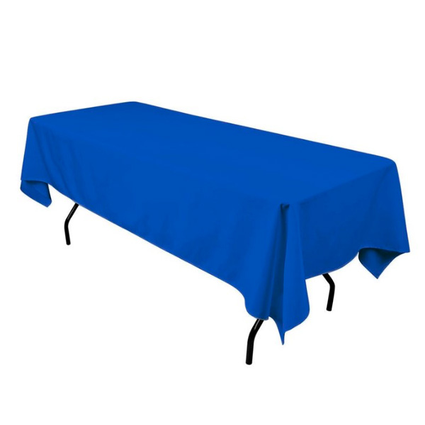 Прямоугольные скатерти 2,4*1,5 м голубые