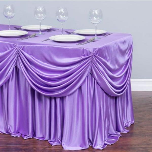 Фуршетная юбка с декором фиолетовая