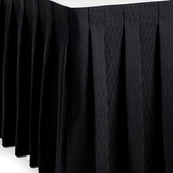Фуршетная юбка черная с рисунком