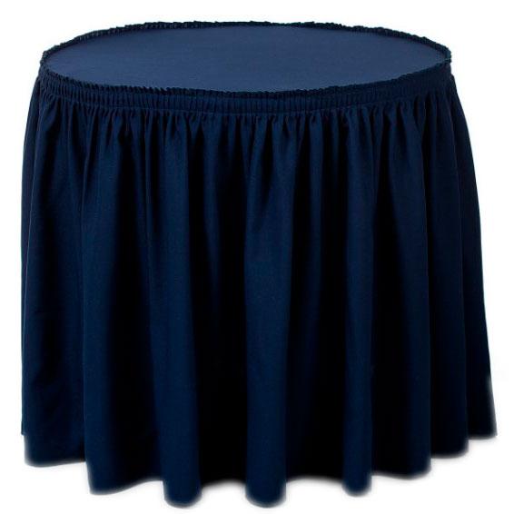 Фуршетная юбка синяя