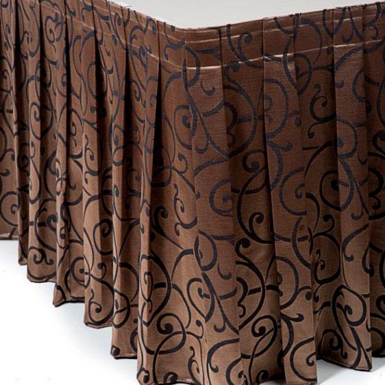 Фуршетная юбка коричневая