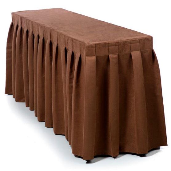 Фуршетная юбка светло-коричневая