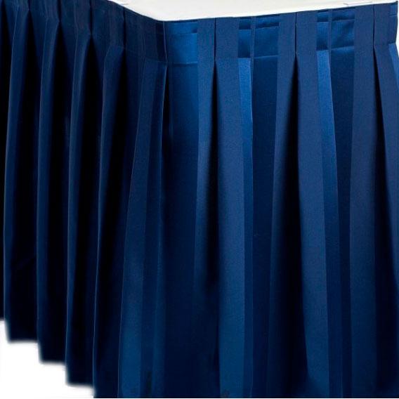 Фуршетная юбка темно-синяя